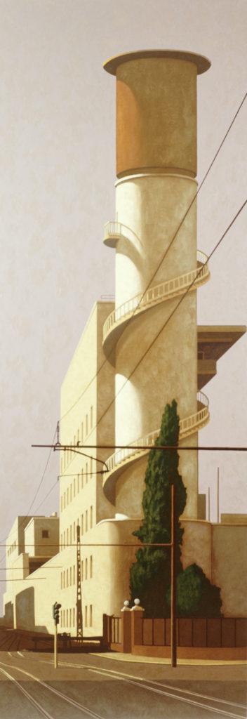 Via Giolitti 2004 olio su tela cm. 260x90
