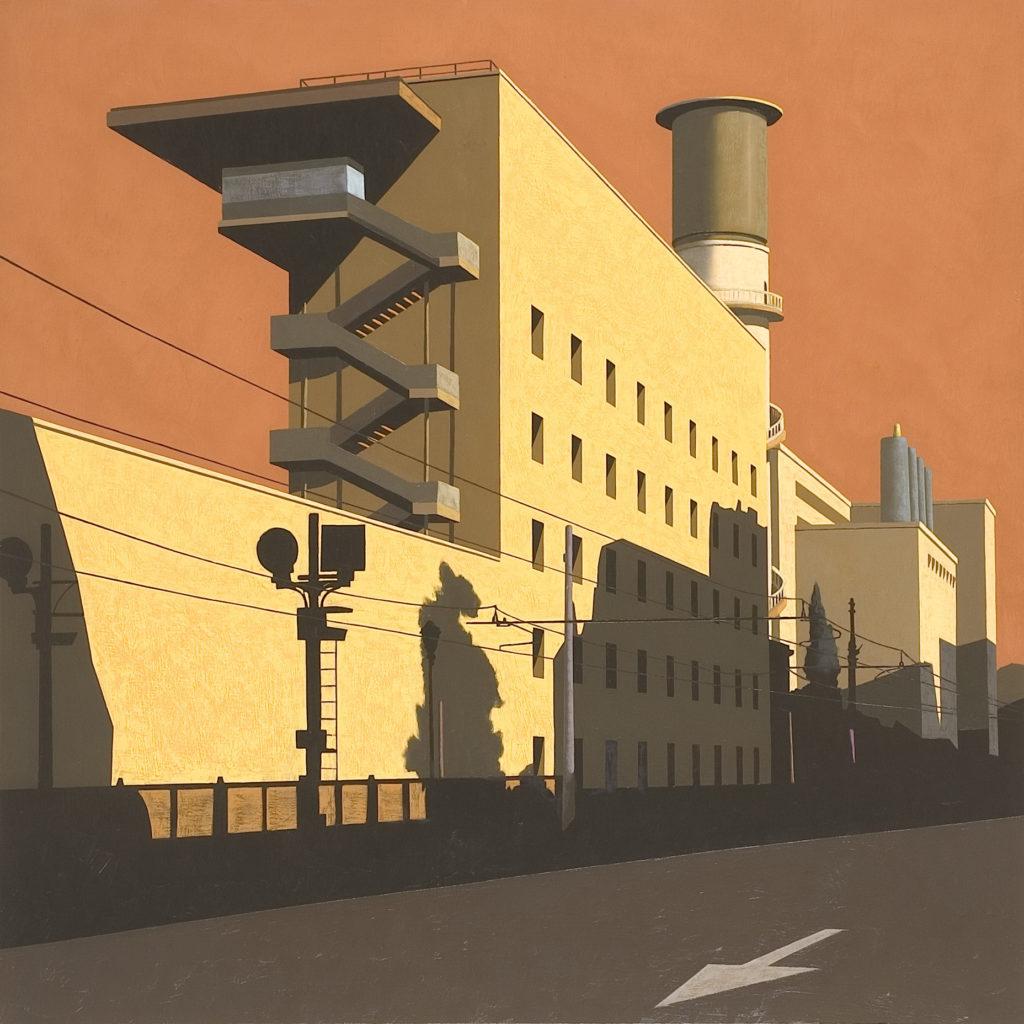 Via Giolitti 2005 olio su tela cm 100x100