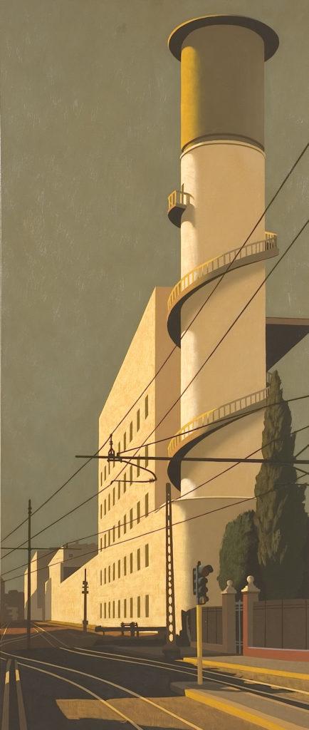 Via Giolitti 2005 olio su tela cm 140x60