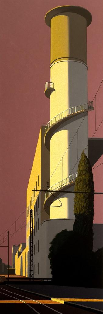Via Giolitti 2009 olio su tela cm 300x100