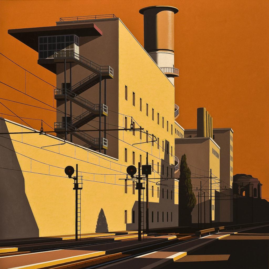 Via Giolitti 2011 olio su tela cm 150x150