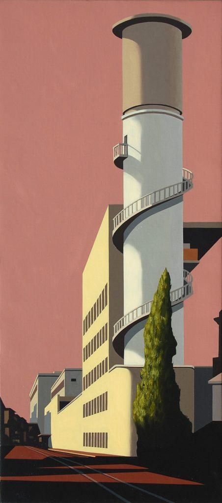 Via Giolitti 2017 olio su tela cm 90x40
