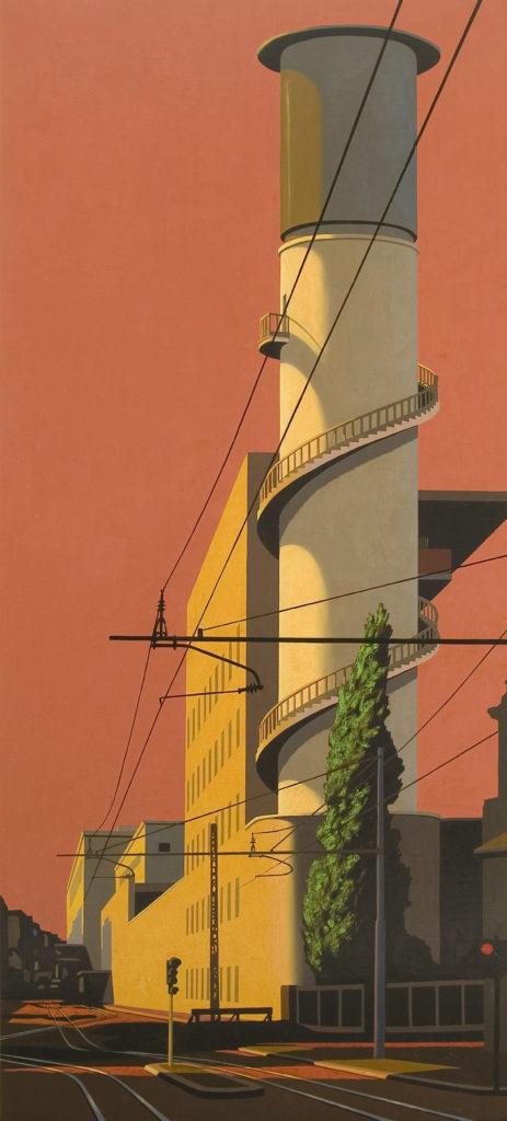 Via Giolitti 2007 olio su tela cm 180x80